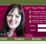 Custom Optin Designs in a WordPress Website Header