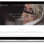 Two Stories Media Scrolling Site Design
